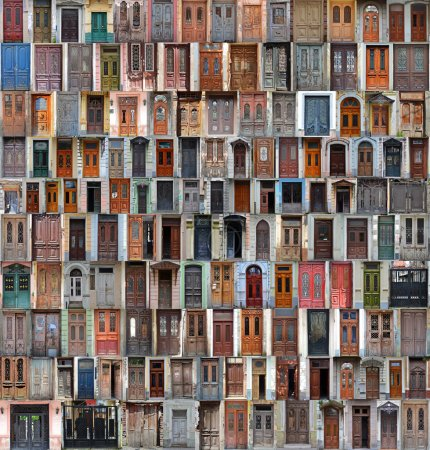Composition of old doors (Georgia)