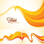 Flow abstract background series (orange) File format EPS 10