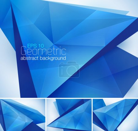 Photo for A set of geometric abstract background. Each background separately on different layers.  Available in 4 variants and created in RGB mode - Royalty Free Image