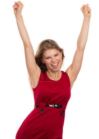 Woman Winning Success
