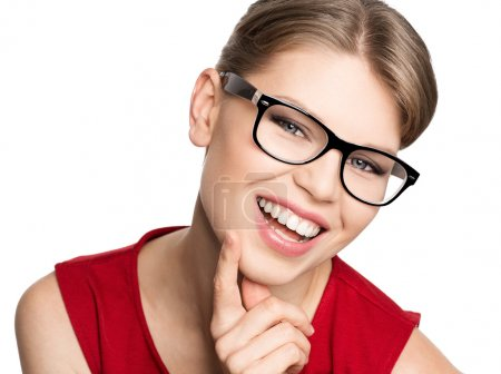 Fashion woman in eyeglasses