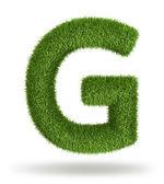 Přírodní tráva písmeno g