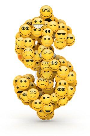 Emoticons dollar sign