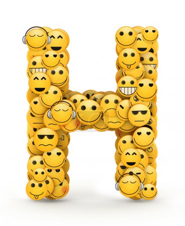 Emoticons Buchstabe h