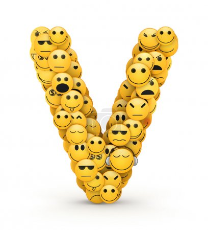 Emoticones letra V