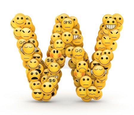 Emoticons Buchstabe w