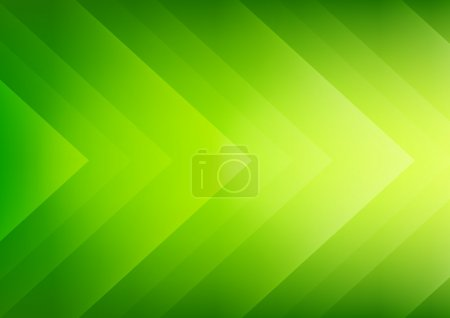Illustration for Abstract green ecology theme arrows background for presentation - Royalty Free Image