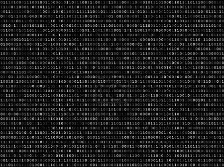 Blink binary code screen black