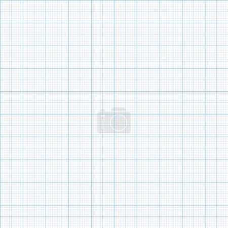 Illustration for Millimeter paper one, five and ten mm grid shift, vector 100mm size - Royalty Free Image