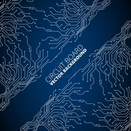 Illustration for Vector abstract background of circuit board digital technologies with  space for title - Royalty Free Image