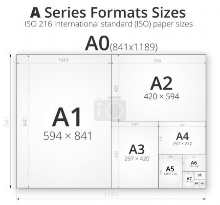 Illustration with paper size of format A