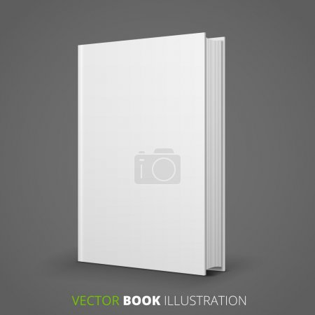 Illustration for Template of blank book cover, vector - Royalty Free Image