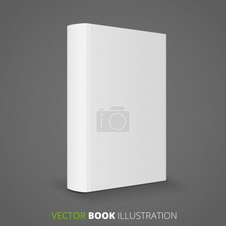 Illustration for Blank book cover with spine. Vector illustration over white background - Royalty Free Image