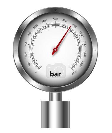 Barometer industrial manometer  vector illustratio...