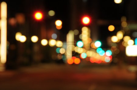 Photo for Abstract pattern of blurred city lights - Royalty Free Image