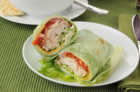 Chicken or turkey wraps