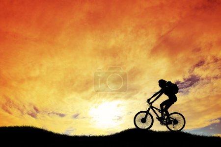 Photo pour Moto trial sur la montagne - image libre de droit
