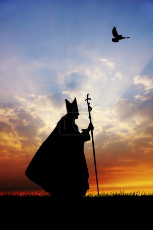 Pope silhouette