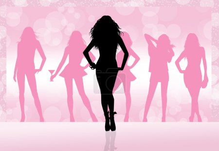 Photo for Evening between women silhouette - Royalty Free Image