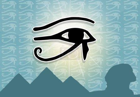 Photo pour Illustration des hiéroglyphes égyptiens - image libre de droit