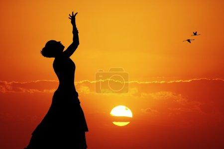 Indian dance at sunset...