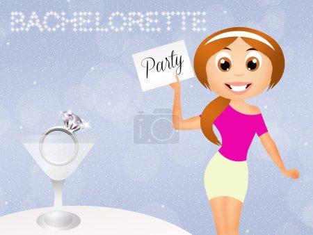 Illustration of bachelorette party...