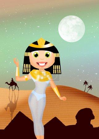 Photo pour Ilustración de cleopatra - image libre de droit
