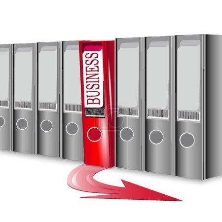 Folders, concept success in business