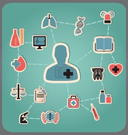 Illustration pour Concept de médecine - illustration vectorielle - image libre de droit
