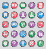 Set of colorful medical buttons for design - part 2