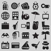 Set of tourism and recreation icons - part 1 - vector icons