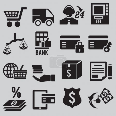 Set of business and money icons - part 3