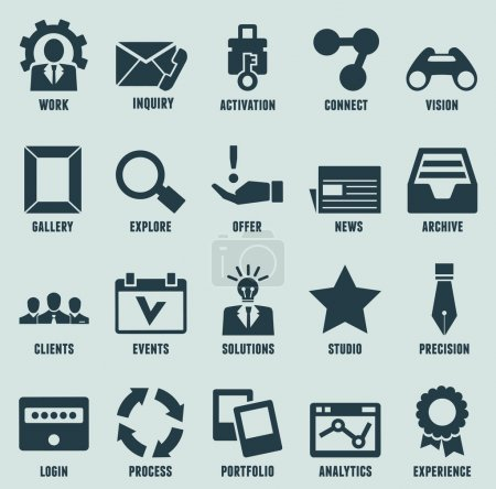 Set of marketing internet and service icons - part 3