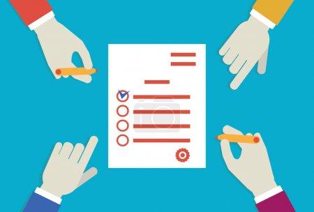 Illustration pour Vector illustration plat de planification d'entreprise - illustration vectorielle - image libre de droit