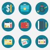 Vector flat set of business and management icons - part 3 - vector icons