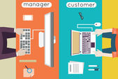 Vector illustration of customer relationship management Business and development