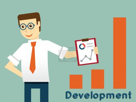 Businessman and development, productivity of business