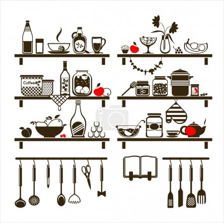 Vector food and drinks icons set
