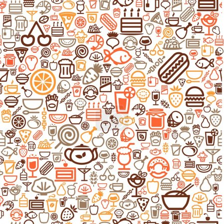Illustration for Seamless food background - Royalty Free Image