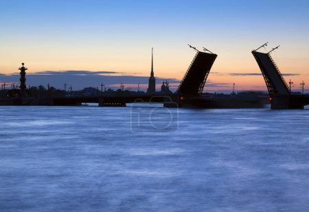 Divorced Bridge in St Petersburg