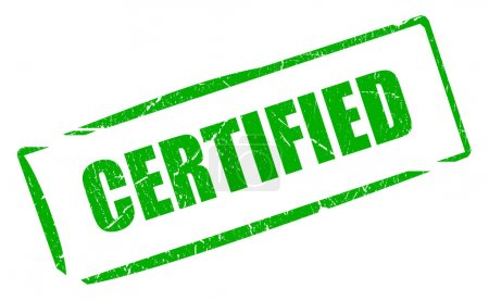 Certified green stamp