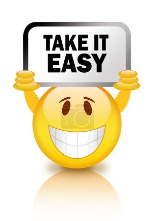 Photo pour Considérer les smiley simple isolé sur blanc - image libre de droit