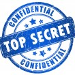 Top secret stamp isolated on white...