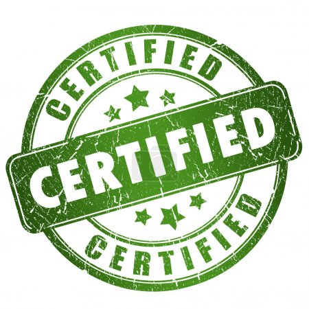 Photo pour Timbre grunge certifié isolé sur blanc - image libre de droit