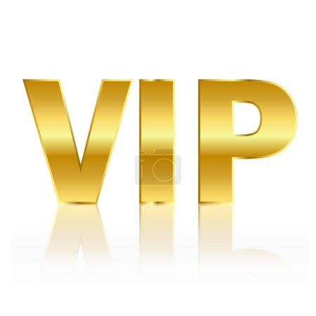 Foto de Símbolo VIP Oro aislado en blanco - Imagen libre de derechos