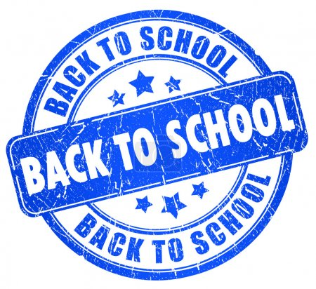 Back to school stamp