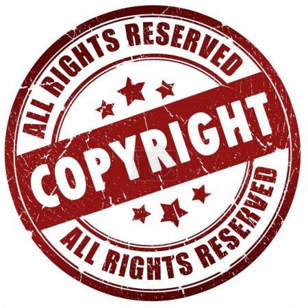 Photo pour Copyright timbre isolé sur blanc - image libre de droit