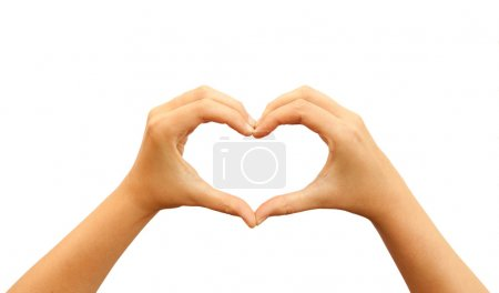 Photo for Heart shaped hands - Royalty Free Image