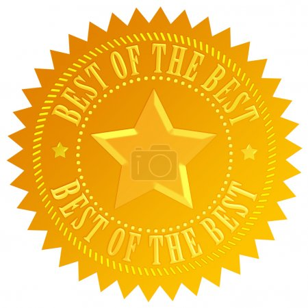 Photo for Best of the best icon - Royalty Free Image