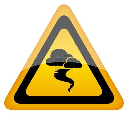 Illustration for Hurricane warning sign, vector eps10 illustration - Royalty Free Image